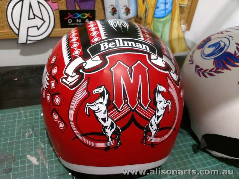 Custom painted harness helmet