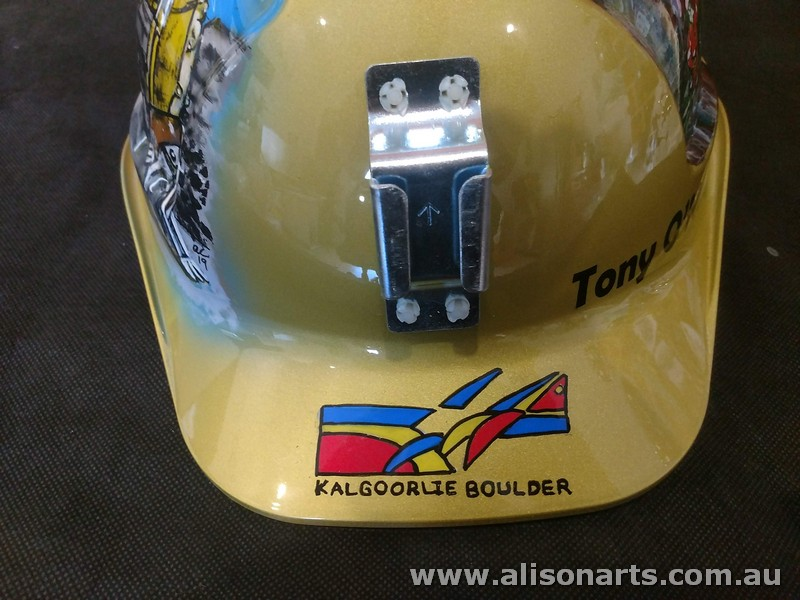 hand painted custom miners hard hat