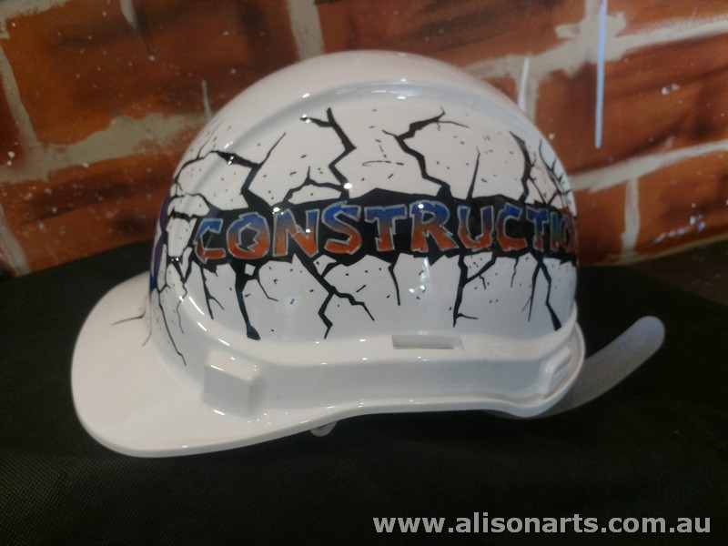 custom hand painted airbrushed hard hat