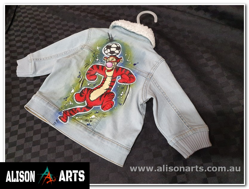 Hand painted one of a kind kids jacket