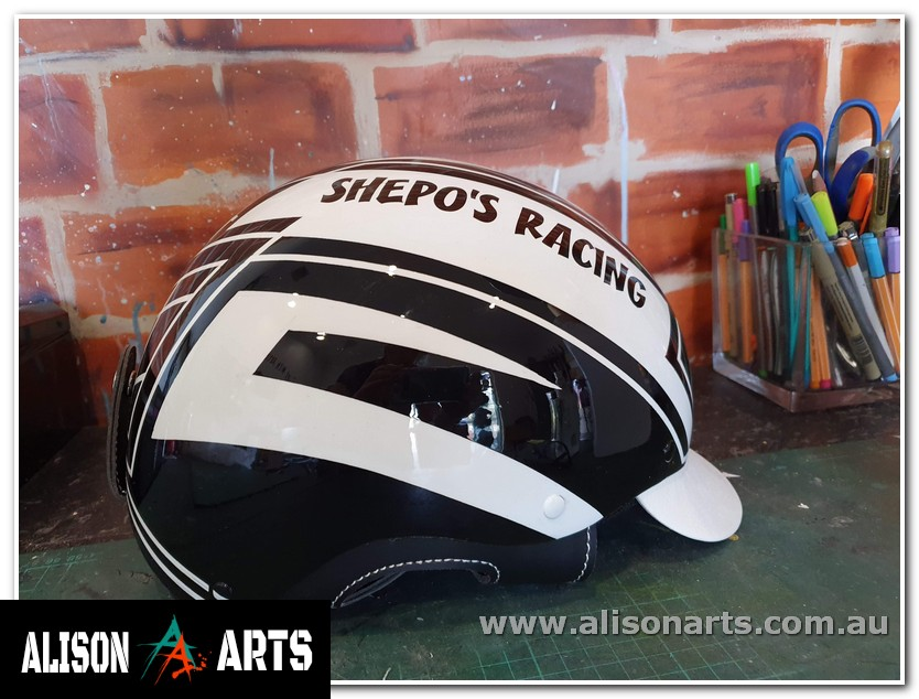 custom trotting harness racing drivers helmet