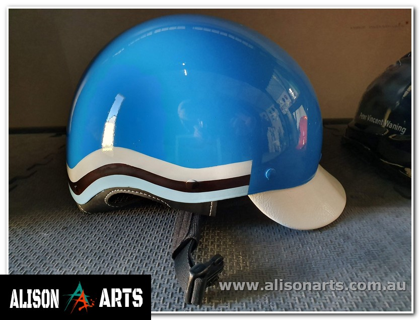 harness racing custom painted trrotting helmet