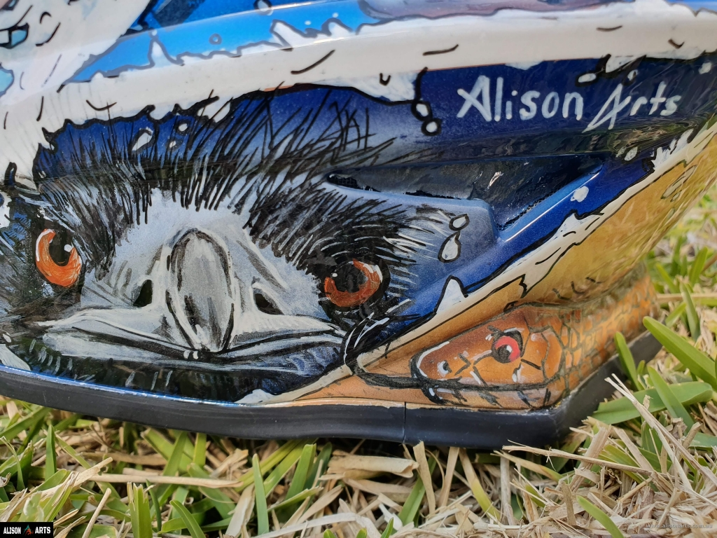 custom painted aussie helmet