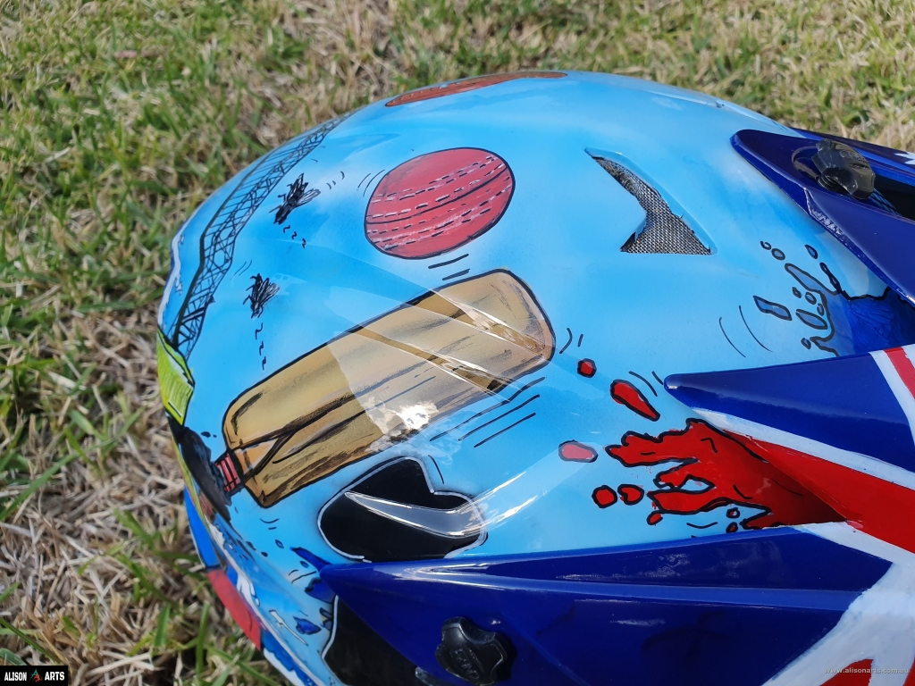 aussie custom painted helmet