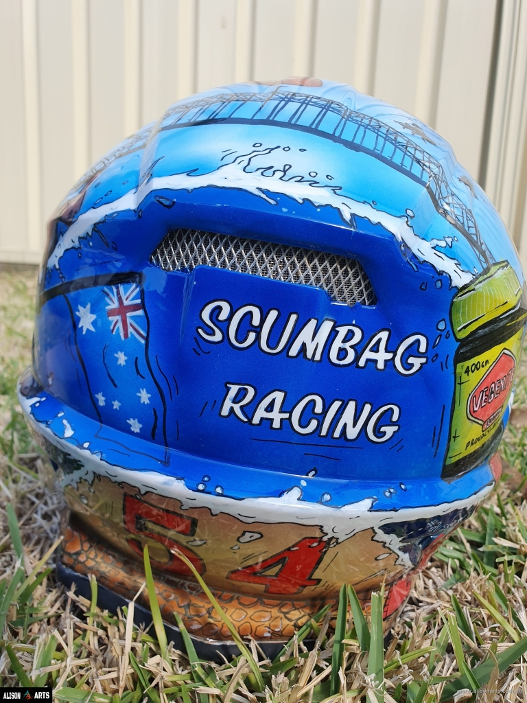 custom aussie painted helmet