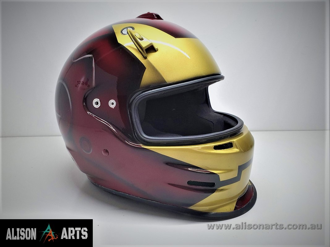 iron man custom painted helmet
