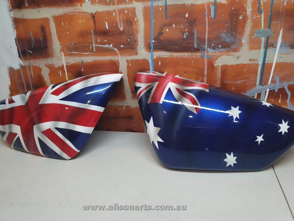 airbrushed aussie flag